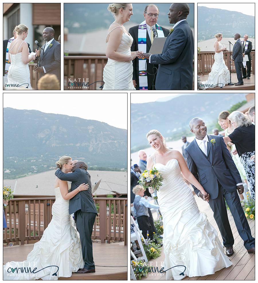 Cheyenne Mountain Resort: Ceremony, Cheyenne Mountain Resort, Bride And Groom