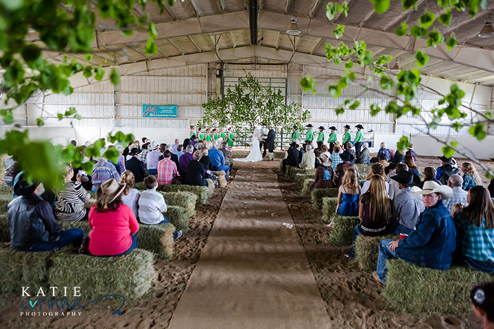 Hay Bale Wedding Seating Panels With Branches Cowboy Western Ceremony