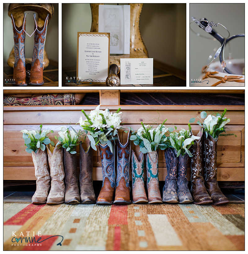 Western Bouquets Cowboy Boots On Wedding Day Spurs Bangles