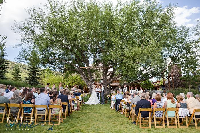 Grace's Chapel wedding design, Spruce Mountain Ranch Grace's Chapel, Colorful floral summer design,